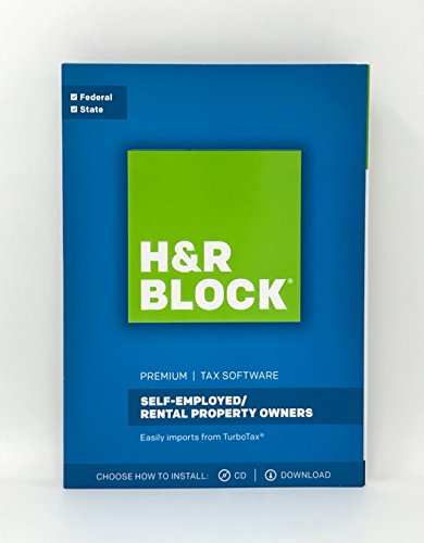 H&R Block Premium 2017 Federal + State Tax Software for Self-Employed/Rental Property Owners