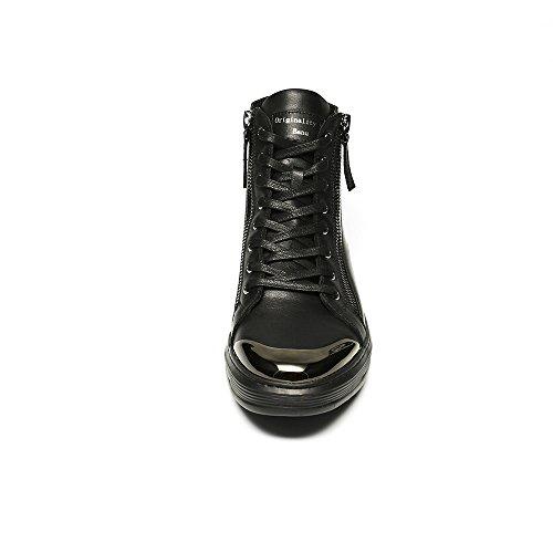 da Casual Uomo Leggero Alta Scarpe Gomma Moda 3D Scarpe Black Creativa Casual Stampa Scarpe R1x88P