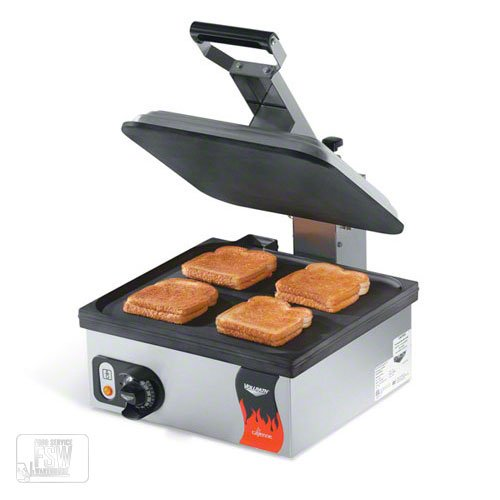 Vollrath (40792) - 14'' Smooth Plate Panini Sandwich Press - Cayenne® Series