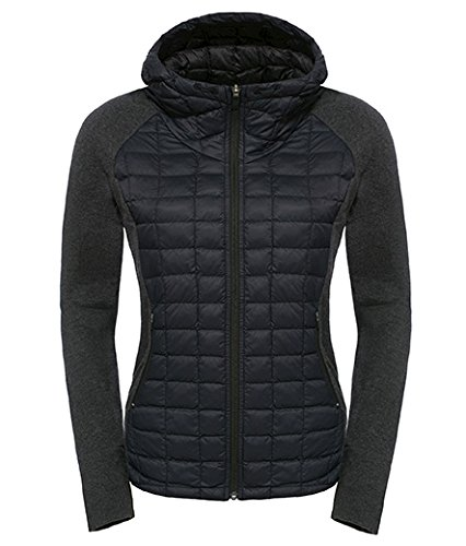 (The North Face Endeavor ThermoBall Womens Jacket - Small/TNF Black-TNF Black Heather)