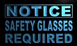 ADV PRO m717-b Notice Safety Glasses Required Neon Light Sign