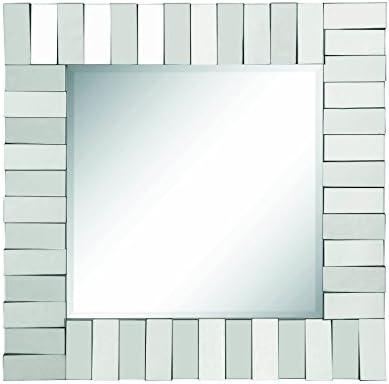 Coaster Home Furnishings Square Wall Mirror Silver