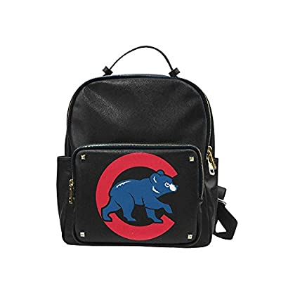CP-FEED Chicago Cubs Logo Unisex Leisure Backpack School Leisure Shoulder Bag