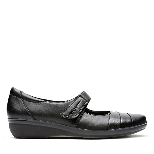 Ladies Clarks Casual Shoes Everlay Kennon Black