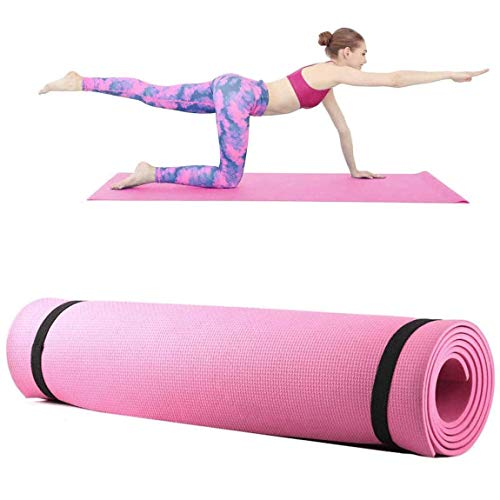 LIKEVER Thick Non-slip Yoga Mats with Strap for Women Exercise Mats for Floor Home Gym Equipment Workout Pilates Fitness…