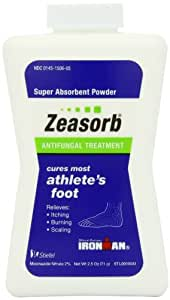 Zeasorb-AF Antifungal Powder, Foot Care, 2.5-Ounce Bottles (Pack of 2)
