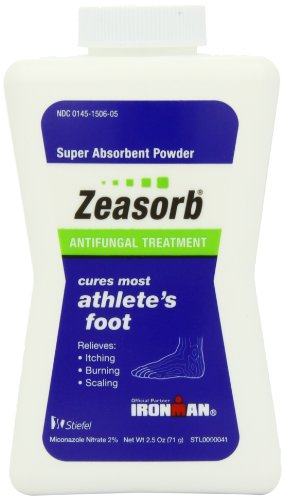 Zeasorb-AF Antifungal Powder, Foot Care, 2.5-Ounce Bottles (Pack of 2) ()