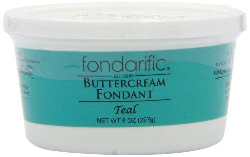 Fondarific Buttercream Fondant, Teal, 8 Ounce