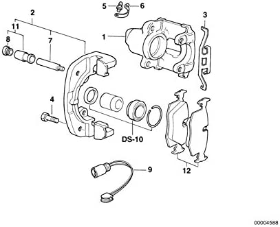 BMW Genuine Brake Pads Clip 3 5 7 X3 X5 Series E38 E39 E53 E83 34111163488