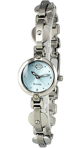 Harley Davidson by Bulova Women's Analog Round Watch Steel Bracelet 76L22