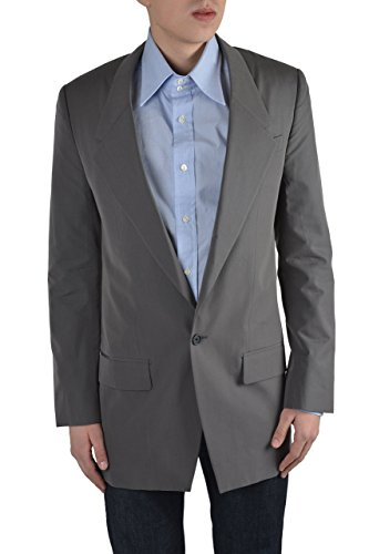 "Dolce & Gabbana ""Sicilia"" Men's Gray One Button Silk Blazer Size US 38 IT 48"