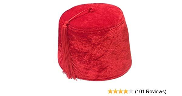 7585fa1b6 Jacobson Hat Company Red Fez Hat