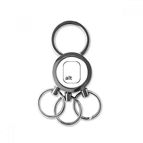 Keyboard Symbol Alt Metal Key Chain Ring Car Keychain Trinket Keyring Novelty Item Best Charm Gift (Alt Charms)