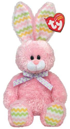 Hoppity Bunny - Ty Hoppity Pink Bunny Beanie Baby