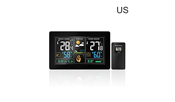 Amazon com: Window-pick Weather Forecast Clock Wireless