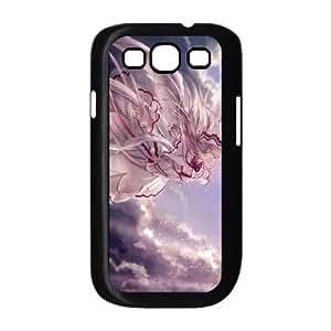 Lily White Touhou Project 3 3 funda Samsung Galaxy S3 9300 Negro de la cubierta del teléfono celular de la cubierta del caso funda EOKXLKNBC33877