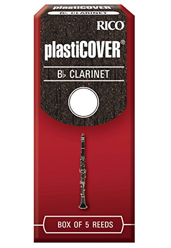 Rico Plasticover Bb Clarinet Reeds, Strength 4.0, 5-pack