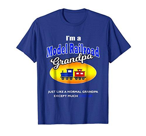 Model Railroad Hobby - Mens I'm a Model Railroad Model Trains Grandpa Hobby T Shirt XL Royal Blue