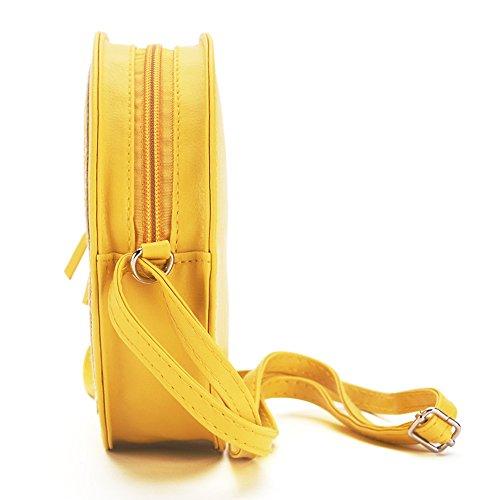 MIWIND, Borsa a tracolla donna giallo Yellow