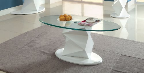 Discount furniture of america talina pedestal base coffee for Furniture of america inomata geometric high gloss coffee table