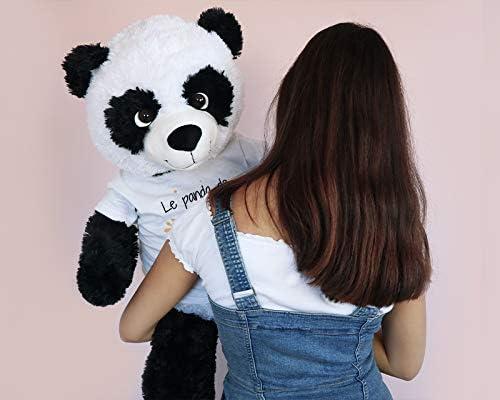 CADEAUX.COM Panda G/éant 1 m/ètre Personnalisable Pr/énom