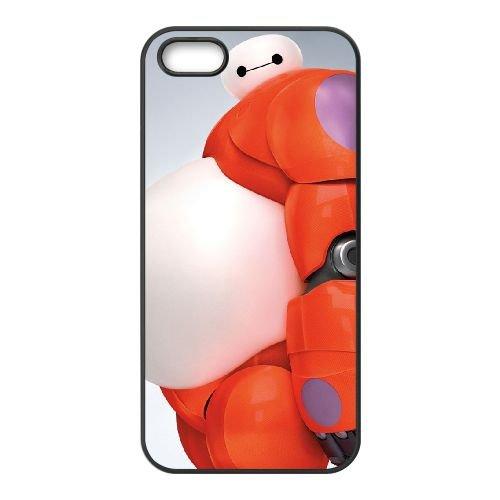 I5H45 grand héros de six M2N6WL coque iPhone 4 4s cellulaire cas de téléphone couvercle coque noire KT2PTH6FE