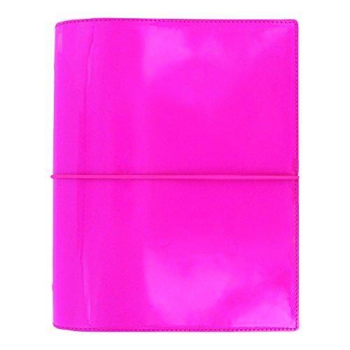 Filofax Domino (Filofax 2018 A5 Domino Organizer, Patent Pink, Paper Size 8.25 x 5.75 inches (C022482-18))