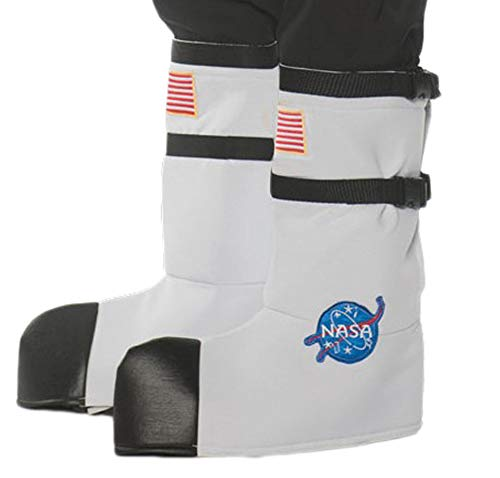 Adult NASA Space Astronaut White Orange Silver Boot Top Suit Costume Accessory