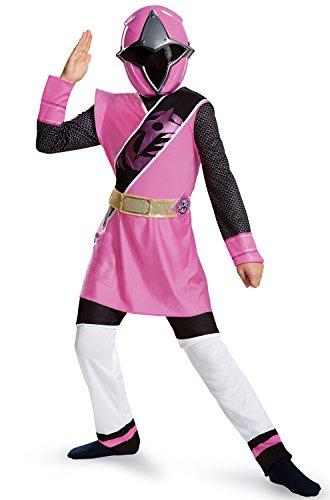 Power Rangers Ninja Steel Deluxe Costume, Pink, Medium (7-8) -