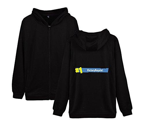 Casual Pile Fortnite Unisex E Black Invernale Con Sweatshirts Allentato Outwear Donne Zip Aivosen Per Uomini Cappotto Felpa xqHYwUII