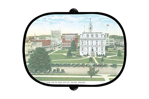 Civic Center From Post Office, Salem , Or 2Pcs Foldable Car Window Sunshade - Salem The Center