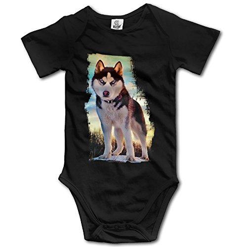 Baby Boys' And Girl's Bodysuits Siberian Husky Nature (Club Siberian Kennel Husky)