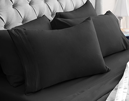 Luxor Linens - 6-Piece Sheet Set - Hotel Quality Giovanni Collection Egyptian Comfort Sheet Set - Ultra Soft, Luxurious, Wrinkle & Fade Resistant - 14 Colors & 4 Sizes - Stock Kors Price