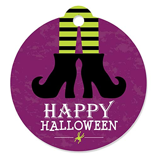 Happy Halloween - Witch Party Favor Gift Tags (Set of 20) -