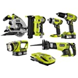 ONE+ 18-Volt Lithium-Ion Cordless Combo Kit with Brad Nailer (6-Tool)