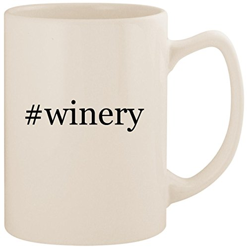 #winery - White Hashtag 14oz Ceramic Statesman Coffee Mug Cup