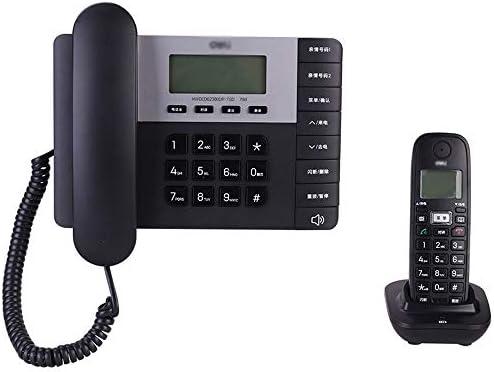 HHXD Teléfono residencial Teléfono de Tres vías Oficina Digital Inalámbrico Gran Capacidad Teléfono montado en la Pared Teléfono Fijo Protección contra Rayos Un Mini teléfono pequeño. (Color : Black): Amazon.es: Hogar