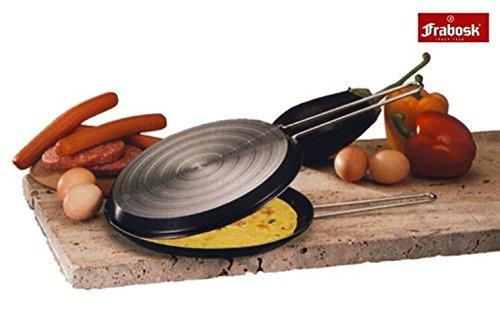 """Frabosk Double Grill Non-Stick Aluminium Omelette Omelet Fritter Hamburger Grilled Sandwich Pan 18cm 7"""""""