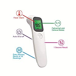 SCIAN Forehead Thermometer - Digital Medical Thermometer Instant Accurate Reading, Infrared Thermometer for Fever - Baby Kids, Children, Adults, Infants, Toddlers
