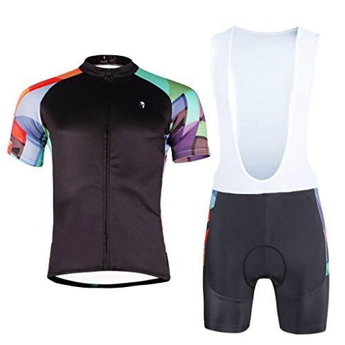 paladinsport-black-mens-short-sleeve-bicycle-clothing-and-bib-shorts-set-size-xxxl
