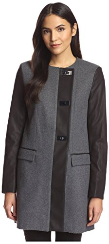 French Connection Women's Carrie Coat, Grey Melange, 0 US 411j 2BNgixGL