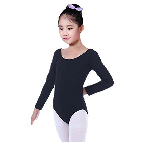 (Girls One-Piece Gymnastics Long Sleeve Leotard Ballet Tutu Dance Costumes for Teen Girl Yamally (3-4 Years Old,)