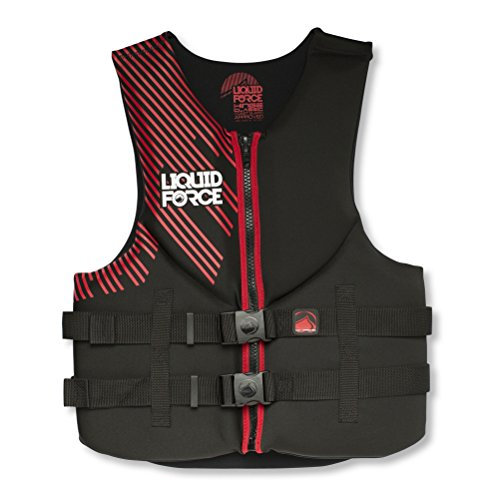 Liquid Force Mens Vest Black/Red, 2XL, 48