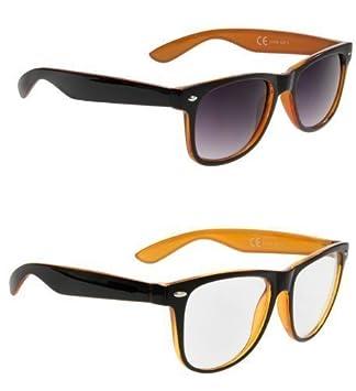 Paquete doble - gafas de sol Wayfarer clásicas y pequñas de ...