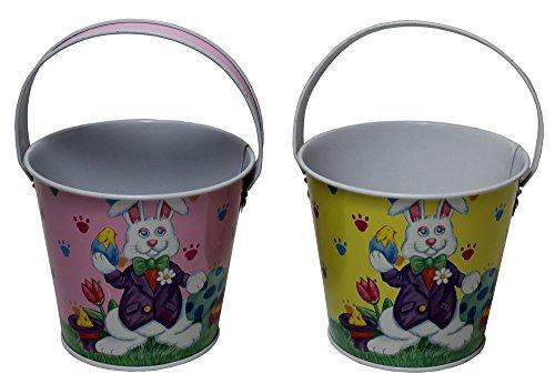 Set of 2 Metal Easter Buckets -