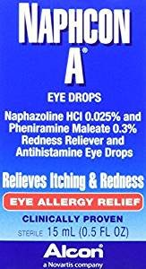 Alcon Naphcon Eye Drops, Allergy Relief 15 ml
