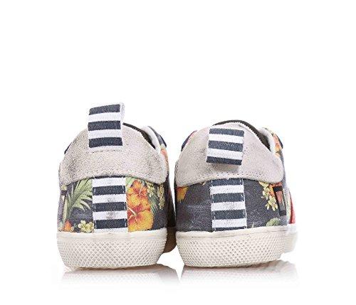 D.A.T.E. -Niedrig Sneakers mit Schnürsenkel, aus Baumwolle Segeltuch, Jungen