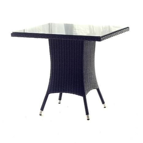 Polyrattan Tisch 90x90.Amazon De Polyrattan Tisch 90 X 90 Cm Geflechttisch Schwarz