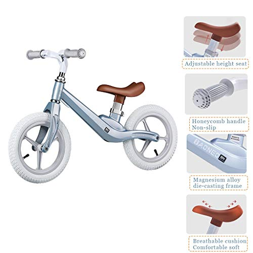 MMZX Kids Balance Bike,Lightweight No-Pedal Toddlers Walking Bicycle Kids Training Bicycle with EVA Tires, Adjustable Handlebar and Seat for Toddlers 2 Years to 4 Years Children