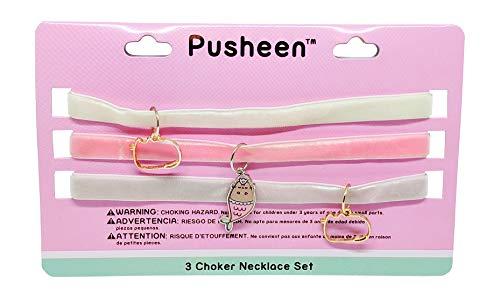 Pusheen Mermaid Tray Velvet Charm Choker Necklace Set by Pusheen (Image #1)